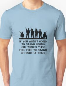 Stand Behind Troops Unisex T-Shirt