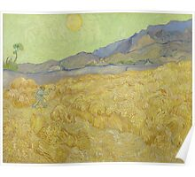 Vincent Van Gogh - Wheatfield with a reaper, Impressionism Van Gogh Poster