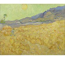 Vincent Van Gogh - Wheatfield with a reaper, Impressionism Van Gogh Photographic Print