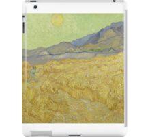 Vincent Van Gogh - Wheatfield with a reaper, Impressionism Van Gogh iPad Case/Skin