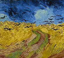 Vincent Van Gogh - Wheatfield with crows, July 1890 - 1890 by famousartworks