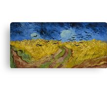 Vincent Van Gogh - Wheatfield with crows, Impressionism.Van Gogh Canvas Print