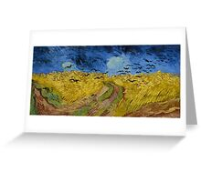 Vincent Van Gogh - Wheatfield with crows, July 1890 - 1890 Greeting Card