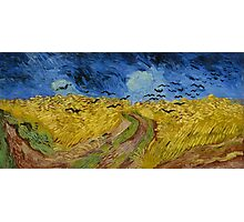Vincent Van Gogh - Wheatfield with crows, July 1890 - 1890 Photographic Print