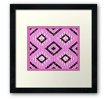 cool retro patch country style  Framed Print