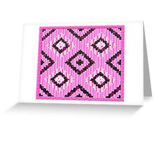 cool retro patch country style  Greeting Card