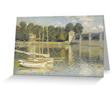Claude Monet - Le Pont d'Argenteuil, Monet Greeting Card