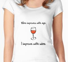 Wine Improves Women's Fitted Scoop T-Shirt