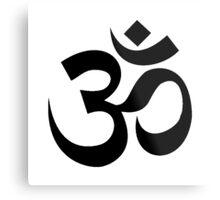 Yoga Om Metal Print