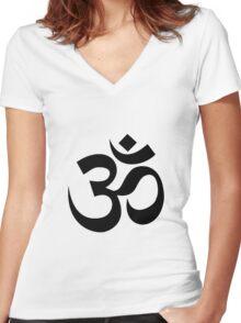 Yoga Om Women's Fitted V-Neck T-Shirt