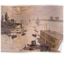 Claude Monet - Le Bassin d'Argenteuil vu depuis le pont routier (1874) Poster