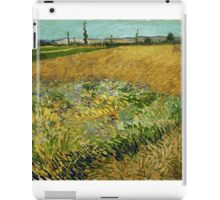 Vincent Van Gogh - Wheatfield,  Famous Painting. Impressionism. Van Gogh iPad Case/Skin