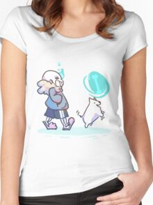 Walking the Dog Women's Fitted Scoop T-Shirt