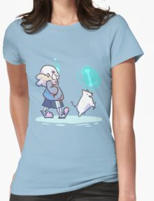 Walking the Dog Womens Fitted T-Shirt