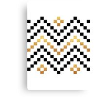 Black and Gold Cross Stitch Pattern Canvas Print
