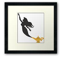 Mermaid - Genie Lamp Framed Print