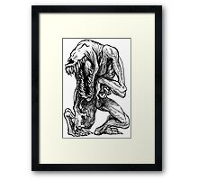 Friends with misery - Anxiety Framed Print