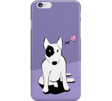 Bull terrier love iPhone Case/Skin