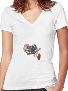Keeping it Reels  Women's Fitted V-Neck T-Shirt