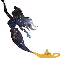 Mermaid - Genie Lamp - Galaxy by SarGraphics