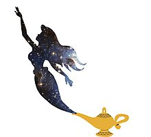 Mermaid - Genie Lamp - Galaxy Photographic Print