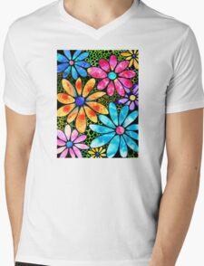 Floral Art - Big Flower Love - Sharon Cummings Mens V-Neck T-Shirt