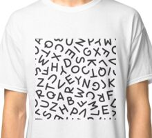 Hand Drawn Uppercase Letters Seamless Pattern Classic T-Shirt