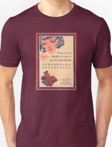 Vintage Agfa Advert on Photographic Wallet T-Shirt