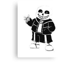 Undertale Sans character Canvas Print