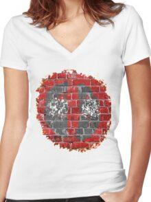 deadwall Women's Fitted V-Neck T-Shirt