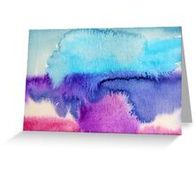 Watercolour abstract 2 Greeting Card