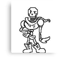 Undertale Papyrus character Canvas Print