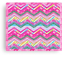 Cute and ptretty style color desing Canvas Print