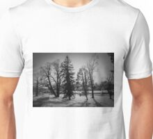 Dramatic trees in the snow Unisex T-Shirt