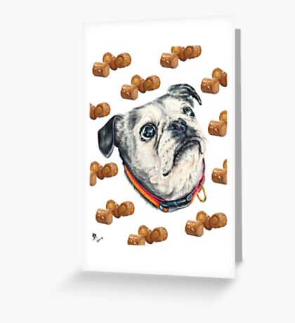 Olive and Snacks Greeting Card