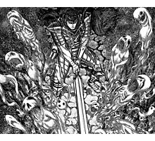 guts slaying spirits, berserk manga Photographic Print