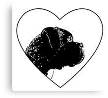 Love Boxer Dog Canvas Print
