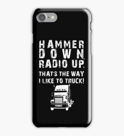 Hammer Down! (White Text/Graphic) iPhone Case/Skin