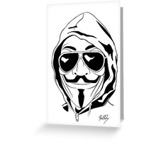 Vendetta Shades Logo Greeting Card