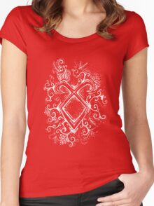 Angelic Rune Mandala- Inverted Women's Fitted Scoop T-Shirt