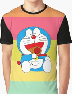 Rainbow Doraemon Graphic T-Shirt