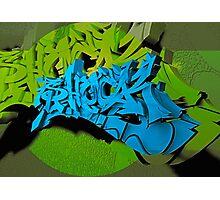Graffiti Shock in 3D Photographic Print