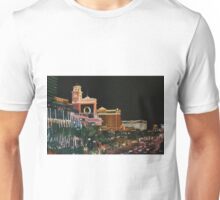 Las Vegas Strip Painting Oil on Canvas Unisex T-Shirt