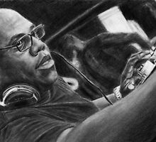 Carl Cox Pencil Drawing by daverives