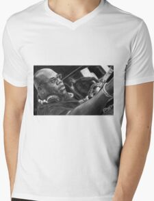 Carl Cox Pencil Drawing Mens V-Neck T-Shirt