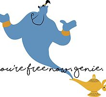 You're free now, Genie - Robin Williams Tribute by SarGraphics
