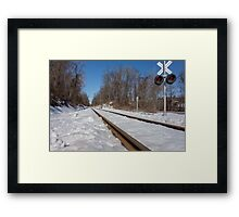 HDR Train Tracks Framed Print