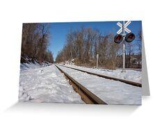 HDR Train Tracks Greeting Card