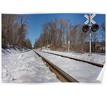 HDR Train Tracks Poster