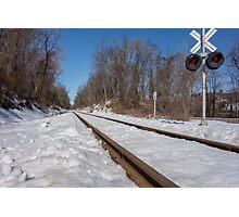 HDR Train Tracks Photographic Print
